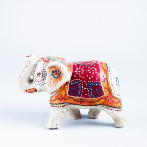 ecomix-hand-painted-elephant - statues-sculptures-and-artifacts