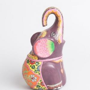 ecomix-karuna-hand-painted-elephant - statues-sculptures-and-artifacts