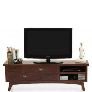 prague-tv-unit-mahogany - entertainment-and-tv-units