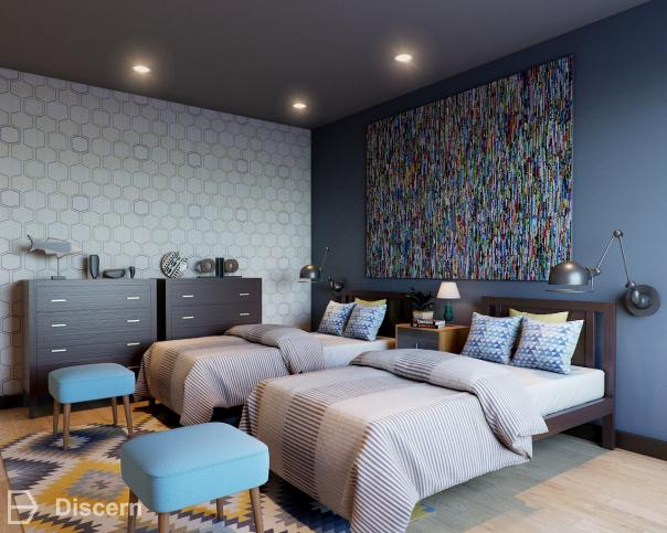 cozy-and-cool modern-mid-century bed-room
