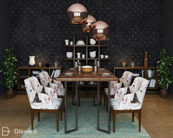 the-luncheon trendy-glamour dining-room