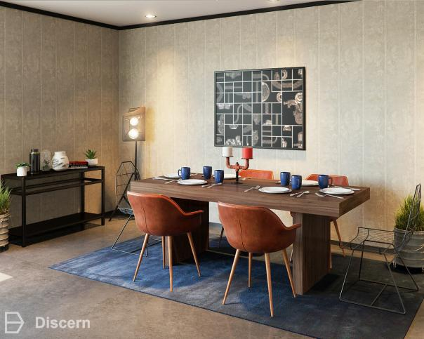 trendy-eclectic-dining-room trendy-eclectic dining-room