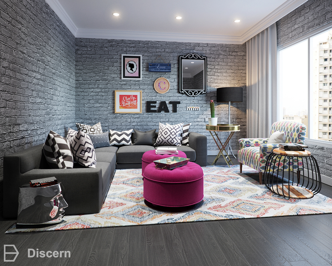 Trendy Eclectic Living Room