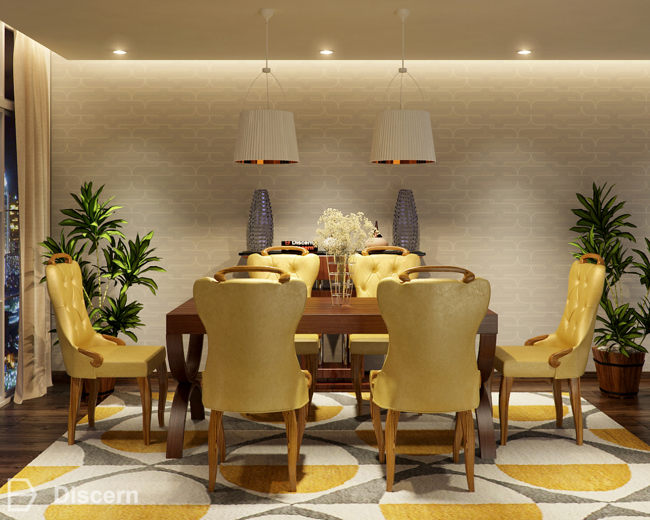 Trendy Glam Dining Room- Art Deco Inspired