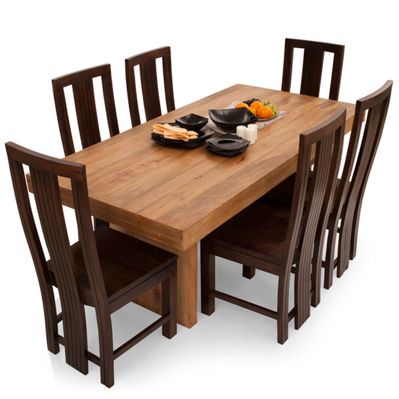 Buy Jordan Capra 6 Seater Dining Table Set Mahogany 7 Pcs Dining Tables Chairs By Discern Living