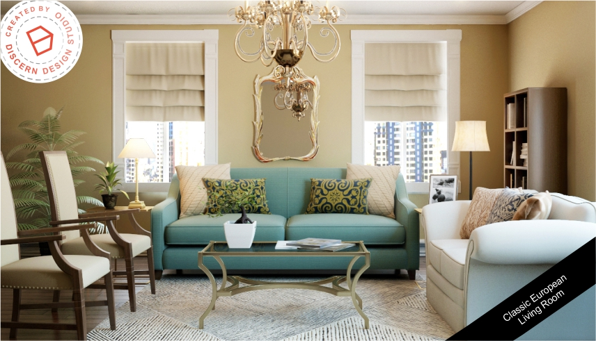 Classic European Living Room